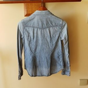 Victoria's Secret Tops - Western Style Denim Button Up Top